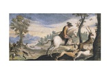 Hunting Deer and Wild Boar Giclee Print by Giovanni Francesco Barbieri