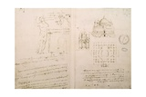 Sketch of a Church Similar to St. Sepolcro in Milan, Fol. 4R from Codex Ashburnham I and Ii Giclee Print by  Leonardo da Vinci