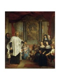 France, Paris, St Marguerite Church, St Vincent De Paul in Front of Ladies of Charity Giclee Print by Louis Galloche