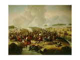 Battle Near Hanau, Schermish During Battle of Leipzig Giclee Print by Giuseppe Bernardino Bison