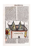 Illustration of a Late 15th Century Distillery to Extract the Essential Oils of Plants, 1500 Giclee Print by Hieronymus Brunschwig