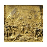 Saul and David, Detail Stories from the Old Testament Giclée-tryk af Lorenzo Ghiberti