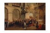 Conferring of Order of Holy Spirit in Chapel of Versailles, June 3, 1724 Giclee Print by Nicolas Lancret