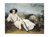 Goethe in Roman Countryside, 1786-1787 Giclee Print by Johann Heinrich Wilhelm Tischbein