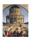 Detail of the Upper Part of the Marriage of the Virgin, 1504 Giclee Print by  Raphael