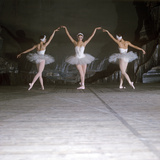 Ballet Dancers Performing a Scene from Swan Lake Photographic Print