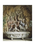 Bath Decorated with Animal Figures and Composition of Shells in Relief Giclee Print by Niccolo Tribolo