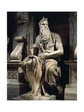 Italy, Rome, Basilica of St. Peter, Moses, Detail from Tomb of Julius II, Circa 1515 Giclee Print by Michelangelo