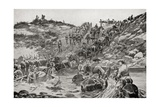 British Forces Fording a River Between Camp Frere and Chieveley During the Second Boer War Giclee Print by Louis Creswicke