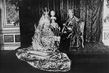 Coronation Photograph of Charles IV and Zita as King and Queen of Hungary with their Son Photographic Print
