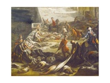 Plague Victims, Detail from Plague in Marseilles, 1721 Giclee Print by Michel Serre