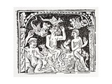 Fourth: Lazarus Describes What He's Seen in Hell - a Horrible Basket Containing Snakes Giclee Print