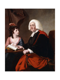 Portrait of the Rev.Thoms Wilson D.D. and His Adopted Daughter, Miss Catherine Macauley Giclee Print by Joseph Wright