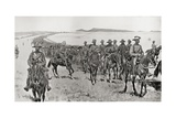 General Piet Cronje's Force on their March South During the Second Boer War Giclee Print by Louis Creswicke