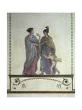Italy, Venice, Academy of Fine Arts, Royal Palace, Venus and Mars, Pompeian-Style Fresco Giclee Print by Giuseppe Borsato