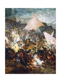 Clash of Cavalries, Battle of Issus, Alexander Great Defeated Army of Darius III Giclee Print by Jan Brueghel the Elder