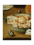 Still Life with Oysters, Sweetmeats and Roasted Chestnuts, Detail of Seafood Giclee Print by Osias The Elder Beert