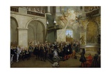 Conferring of the Order of the Holy Spirit in the Chapel of Versailles, June 3, 1724 Giclee Print by Nicolas Lancret