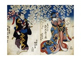Shiki No Nagame Maru-Ni-I No Toshi, Toshi Actor, Scene from the Four Seasons, 1839 Giclee Print by Utagawa Kunisada