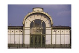 Karlsplatz Underground Station, Designed Between 1894 and 1899 Giclee Print by Otto Wagner