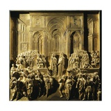 Solomon and the Queen of Sheba, Detail from Stories of the Old Testament Giclee Print by Lorenzo Ghiberti
