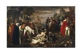 Discovery of Manfredi's Body after Battle of Benevento, 1266 Giclee Print by Giuseppe Bezzuoli