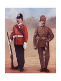 Colour-Sergeant of the West Yorkshire Regiment, Left, and a Sergeant of the Yorkshire Regiment Giclee Print by Louis Creswicke