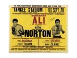 Poster Advertising the Third and Final Fight Between Muhammad Ali and Ken Norton Giclee Print