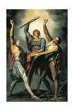The Three Confederates During the Rutli Oath, 1780 Giclee Print by Henry Fuseli