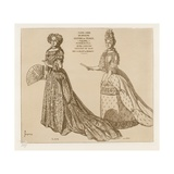 Costumes De Cour, Marie Anne De Baviere Giclee-trykk av Raphael Jacquemin