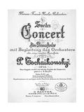 Title Page of Score for Concerto in G Major, Opus 44 Giclee Print by Peter Ilyich Tchaikovsky