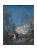Party at the Tuileries for the International Exposition Giclee Print by Pierre Tetar Van Elven