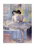 Miss Zambelli in Her Dressing Room; Mademoiselle Zambelli Dans Sa Loge, 1912 Giclee Print by Henri Lebasque
