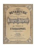 Title Page of Score for Romeo and Juliet Overture, 1869 Giclee Print by Peter Ilyich Tchaikovsky