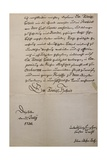 Handwritten Letter to King of Saxony to Accompany Mass in B Minor, Bmw 232 1733 Giclee Print by Johann Sebastian Bach