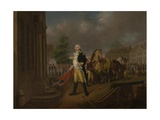 General Humphreys Delivering the Standards Taken at Yorktown to Congress Hall, Philadelphia Giclee Print by Nicolas Louis Albert Delerive