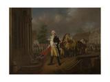 General Humphreys Delivering the Standards Taken at Yorktown to Congress Hall, Philadelphia Giclee Print by Nicolas Louis Albert Delerive