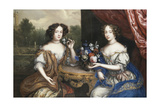 A Double Portrait of Lady Maria Somalia and Lady Anne Barrington Giclee Print by Henri Gascard