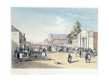 Adelaide, Hindley Street, Plate 41, from 'South Australia Illustrated' by George French Angas, 1847 Giclee Print by Samuel Thomas Gill