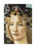 The Face of Flora, Detail of the Allegory of Spring, Circa 1477-1490 Giclee Print by Sandro Botticelli