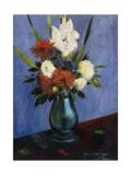 Vase of Flowers with Gladiola and Dahlias; Blumenvase Mit Gladiolen Und Dahlien Giclee Print by Oskar Schlemmer