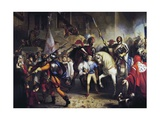 Charles VIII of France Arriving in Florence, November 17, 1494, 1829 Giclee Print by Giuseppe Bezzuoli