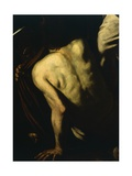 Clothing Naked, Detail from Our Lady of Mercy or Seven Acts of Mercy Giclee Print by  Caravaggio