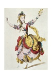 Sketch of Stage Costume of Mademoiselle Allard in Fetes Lyriques, Ballet with Music Giclee Print by Jean-Philippe Rameau