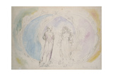 Beatrice and Dante in Gemini Giclee Print by William Blake