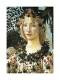 Figure of Flora, Detail of the Allegory of Spring, Ca 1477-1490 Giclee Print by Sandro Botticelli