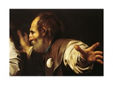 Depiction of Disciple with Shell on His Chest, Detail from Supper at Emmaus Giclee Print by  Caravaggio