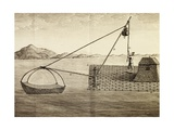 Fishing Method Used by Luzon Island Indians, Engraving from Voyage to New Guinea Giclee Print by Pierre Sonnerat