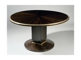 Art Deco-Style Gueridon Table, Ducharne Model, 1930 Gicléetryck av Jacques-emile Ruhlmann