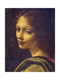Face of Angel, Detail from Virgin of Rocks, 1483-1490 Giclée-Druck von  Leonardo da Vinci